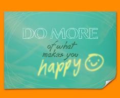 Happy Typography Poster