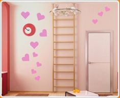 Hearts Set Wall Sticker