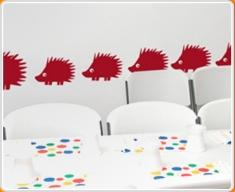 Hedgehogs Set Wall Sticker