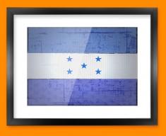 Honduras Flag Framed Print