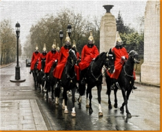 Horse Guards Canvas Art Print