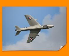 Hunter Hawker Plane Poster