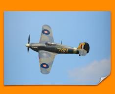 Hurricane Hawker Plane Poster