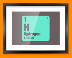 Hydrogen Periodic Element Framed Print