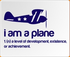 I am a Plane Quote Wall Sticker