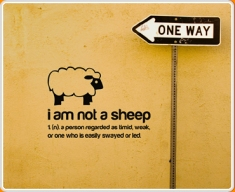 I am not a Sheep Quote Wall Sticker