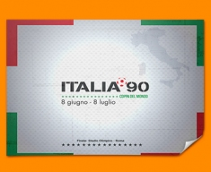 Italy 90 Flag Poster