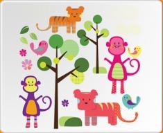 Jungle Animals Set Wall Sticker