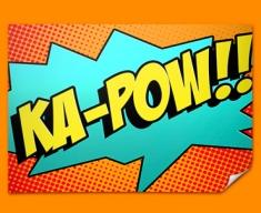 KA POW Comic SFX Poster