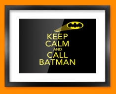 Keep Calm Call Batman Framed Print