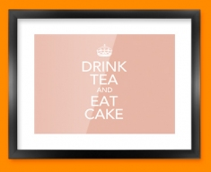 Keep Calm Drink Tea Framed Print