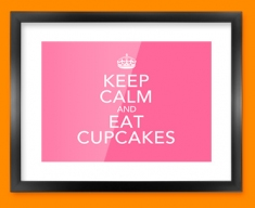Keep Calm Eat Cupcakes Framed Print