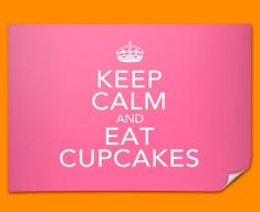 Keep Calm Eat Cupcakes Poster
