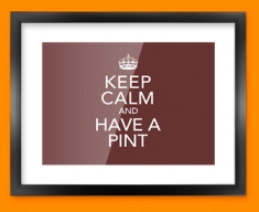 Keep Calm Have a Pint Framed Print