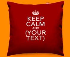 Keep Calm Personalised Funky Sofa Cushion 45x45cm