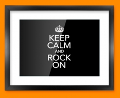 Keep Calm Rock On Framed Print