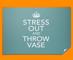 Keep Calm Throw Vase Poster