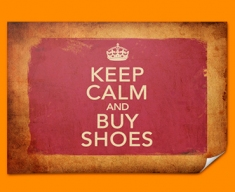 Keep Calm Vintage Buy Shoes Poster