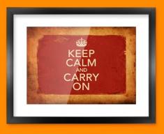 Keep Calm Vintage Carry On Framed Print