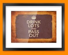 Keep Calm Vintage Drink Lots Framed Print