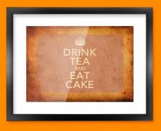 Keep Calm Vintage Drink Tea Framed Print