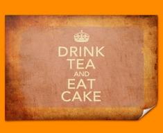 Keep Calm Vintage Drink Tea Poster