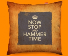 Keep Calm Vintage Hammer Time Funky Sofa Cushion 45x45cm