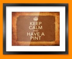 Keep Calm Vintage Have a Pint Framed Print