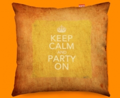 Keep Calm Vintage Party On Funky Sofa Cushion 45x45cm