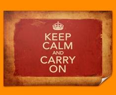 Keep Calm Vintage Poster