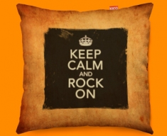 Keep Calm And Rock On Vintage Designer Cushions 45x45cm