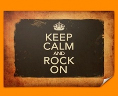 Keep Calm Vintage Rock On Poster