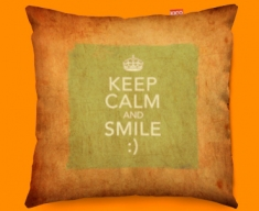Keep Calm Vintage Smile Funky Sofa Cushion 45x45cm
