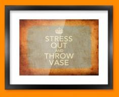 Keep Calm Vintage Throw Vase Framed Print