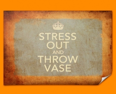 Keep Calm Vintage Throw Vase Poster