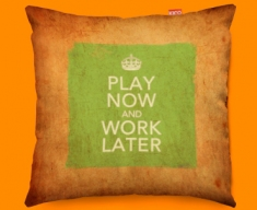 Keep Calm Vintage Work Later Funky Sofa Cushion 45x45cm