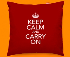 Keep Calm And Carry On Sofa Cushions 45x45cm