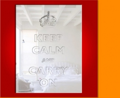 Keep Calm and Carry On Mirror