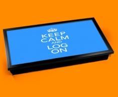 Log On Keep Calm Laptop Lap Tray