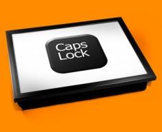 Key Caps Lock Black Cushion Lap Tray