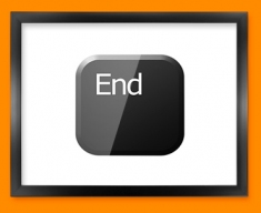 Keyboard Key End Black Framed Print