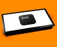 Key End Black Laptop Tray