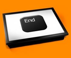 Key End Black Cushion Lap Tray