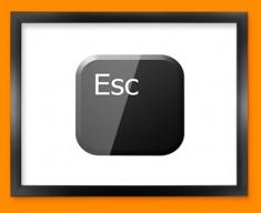 Keyboard Key Esc Black Framed Print