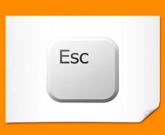 Key Esc White Poster