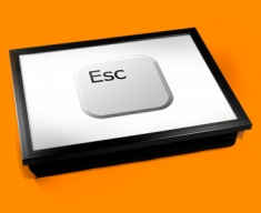 Key Esc White Cushion Lap Tray