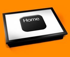 Key Home Black Cushion Lap Tray