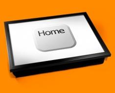 Key Home White Cushion Lap Tray