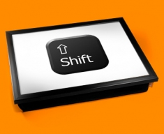 Key Shift Black Cushion Lap Tray