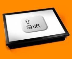 Key Shift White Cushion Lap Tray